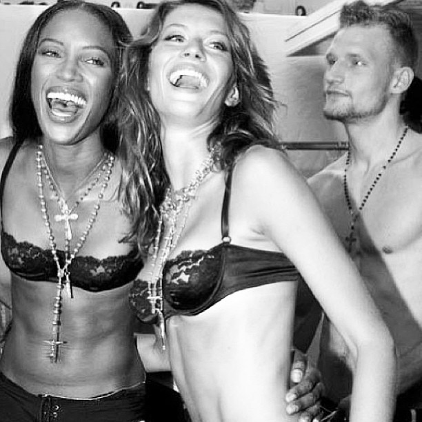 @iamnaomicampbell: #whatalaugh @giseleofficial #throwbackthursday #D&Gmens