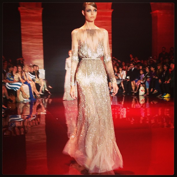 @pnemcova: @elieSaab Gold dream world! #ElieSaab culture show in #Paris.