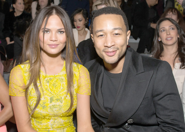 John and Chrissy during 2013 Fashion Week in NYC :: Michael Stewart/WireImage