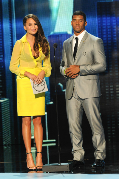 Chrissy Teigen and Russell Wilson :: Allen Berezovsky/WireImage