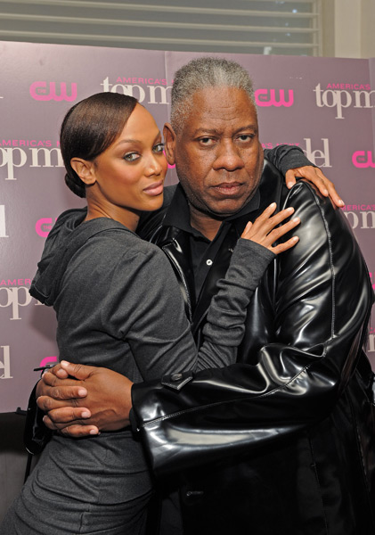 Banks and Andre Leon Talley celebrate the Cycle 15 premiere of America's Next Top Model. (Larry Busacca/Getty Images)