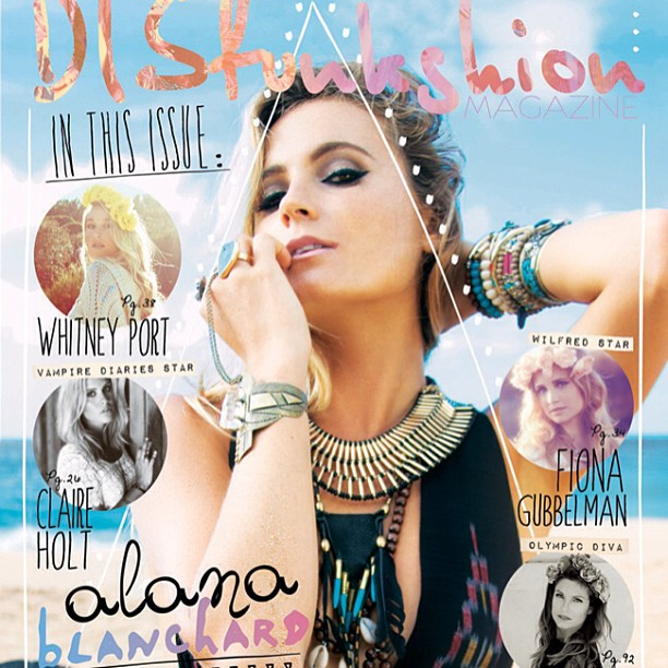 @alanarblanchard: Thank you @disfunkshionmag for the cover of the fall issue!!