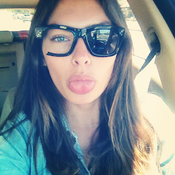 @luvalyssamiller: Left my sunglasses on the roof of my car. New trend?