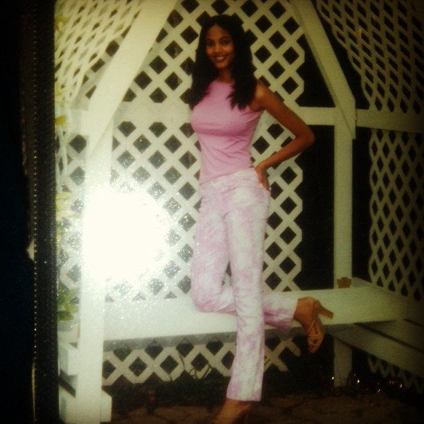 @1arielmeredith: #tbt Senior Pic from high school. I thought my pink pants were so fly!