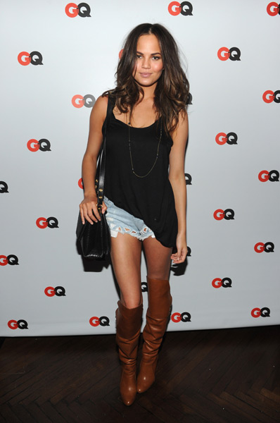 "Chrissy Teigen attends the GQ ""What To Wear Now"" Special Issue Party :: Jamie McCarthy/Getty Images"