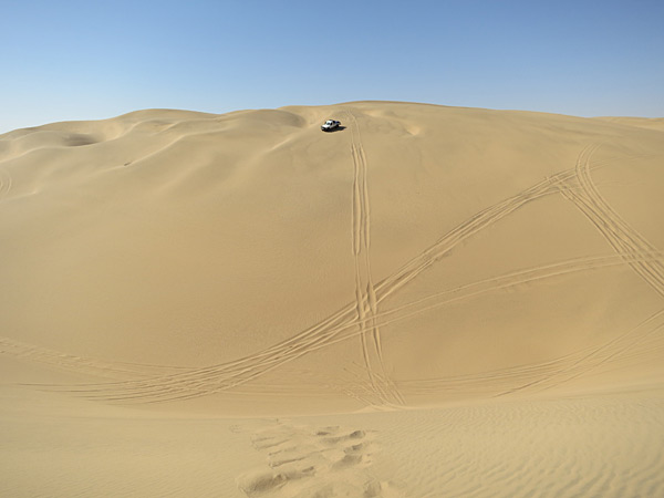 Having fun on a dune trucks in Namibia while on a shoot for the 2013 issue.