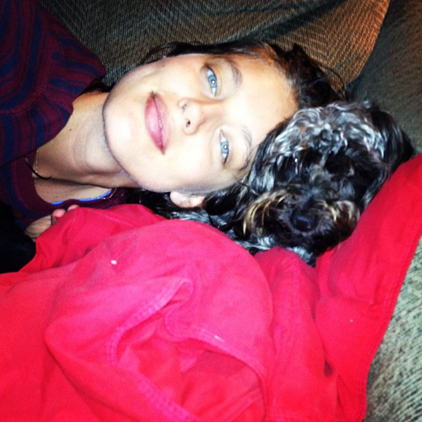 @emilydidonato1: Smothering this fur ball with love as always