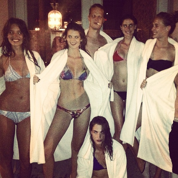 @emilydidonato1: Ancient baths in TriBeCa gone a little wild @cristacober @charlbi143 @gilly0221 @matthewguion