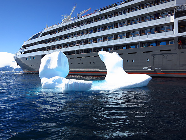 The cruise ship the crew took to Antarctica, Le Boreal for the 2013 issue.