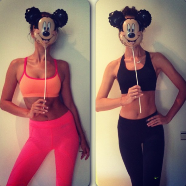 @irinashayk: going crazy after second work out of the day #MickeyMask LoL @savcovanadejda
