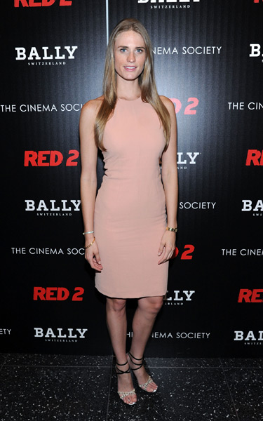 Julie Henderson attends the premiere of Red 2 at The Museum of Modern Art  :: Ilya S. Savenok/FilmMagic