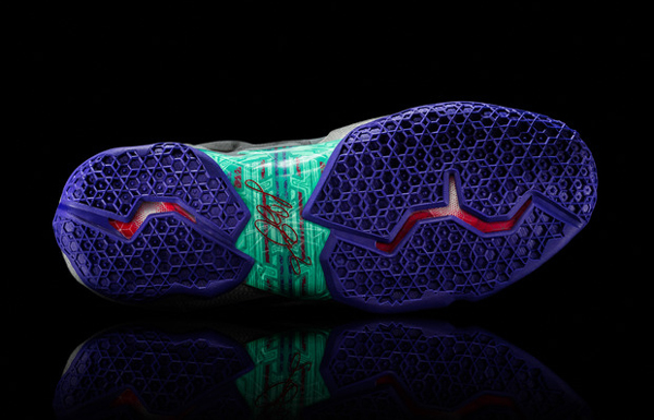 """A look at the sole of Heat forward LeBron James' latest signature Nike shoe, the """"LeBron 11."""" (Nike)"""