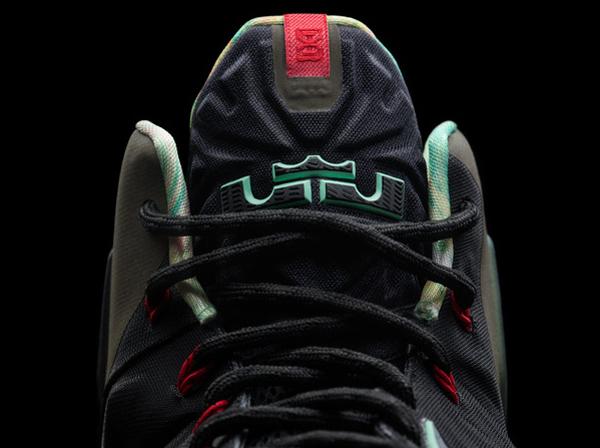 """A look at the tongue of Heat forward LeBron James' latest signature Nike shoe, the """"LeBron 11."""" (Nike)"""