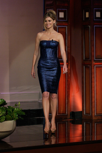 Marisa Miller on The Tonight Show last month :: Paul Drinkwater/NBC via Getty Images