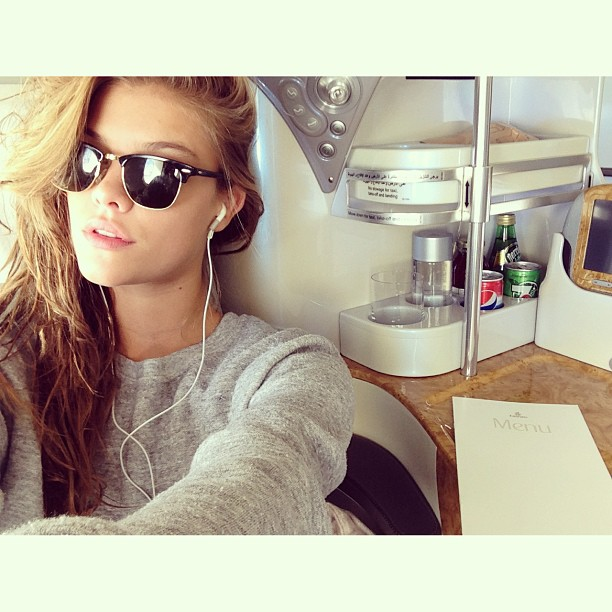 @ninaagdal: @emirates keeping it realreal. Next stop Maldives! #thankful