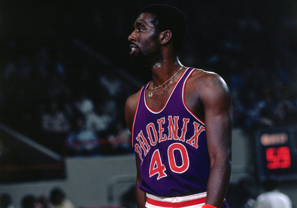 Mike Bantom in the Suns' purple jersey in 1976. (NBA Photo Library/Getty Images)