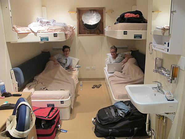 MJ Day and I in our bunk bed room on the research vessel in Panama, 2012 issue.
