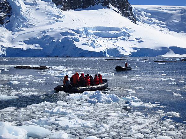 Zodiac icebreakers in Antarctica, 2013 issue.