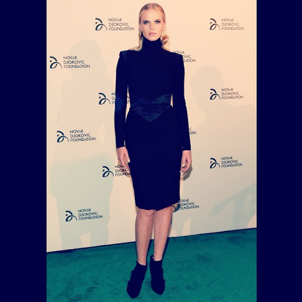 @annev_official: Attending Novak Djokovic Foundation Fundraiser last night in #NYC dress by #AlexandreVautier boots by #WaltetSteiger thank you @tarynshumway, @quinnmurphy1 & @brycescarlett
