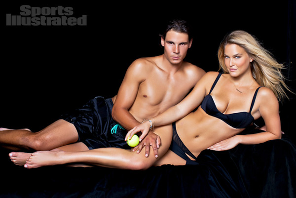 Rafael Nadal and Bar Refaeli :: Walter Iooss Jr./SI (2012)