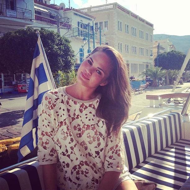 @chrissyteigen: First time in Greece!