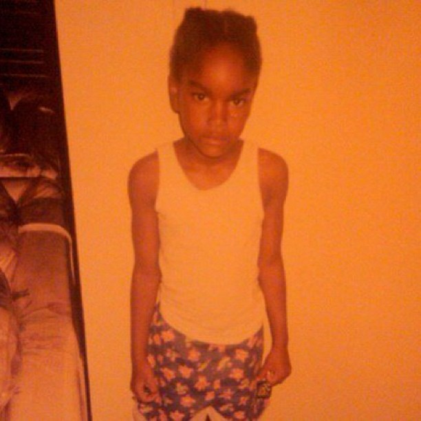 @damarislewis: #ThrowbackThursday Coney Island. Tom Boy. Don't touch my cheese doodles kinda face.