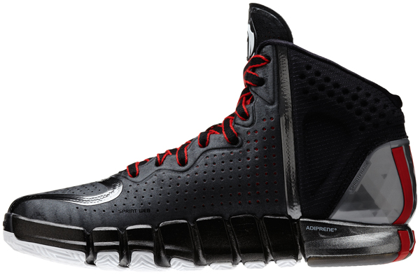 "A side view of the black road colorway of the ""D Rose 4,"" Adidas's latest signature shoe for Bulls guard Derrick Rose. (Adidas)"