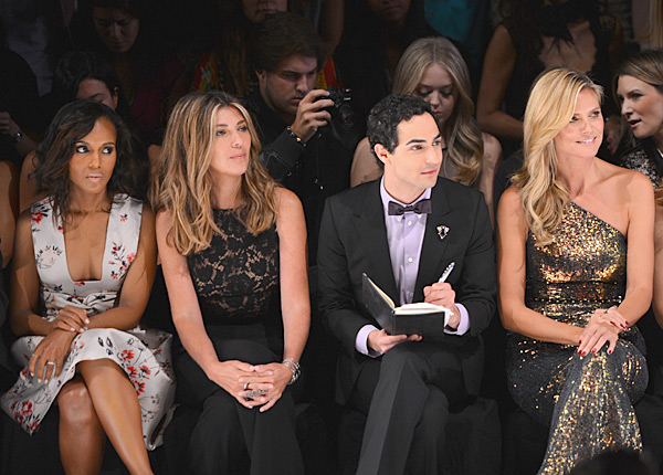 Kerry Washington, Nina Garcia, Zac Posen and Heidi Klum attend the Project Runway Spring 2014 fashion show. (Photo by Stephen Lovekin/Getty Images)
