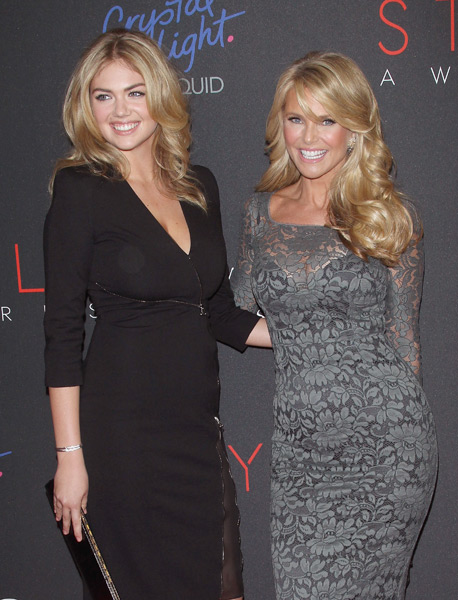 Kate Upton and Christie Brinkley attend the 2013 Style Awards at Lincoln Center. (Photo by Jim Spellman/WireImage)