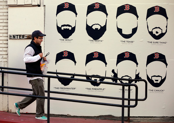 Will tonight mark the final time we see the 2013 Red Sox and their crazy beards? (AP)