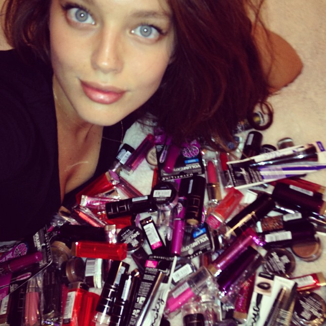 @emilydidonato1: I think I've got enough makeup for the rest of my life. Thank you @maybelline @maybellinenewyork can't wait to try it all
