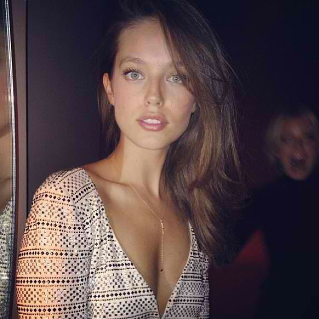 @emilydidonato1: A perfect photo bomb by @carolinewinberg at the @armani show in NY @imgmodels