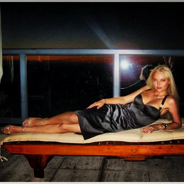 @genevievemorton: Last #tbt #littleblackdress #capetown #genevievemorton #model #sportsillustrated #nightout