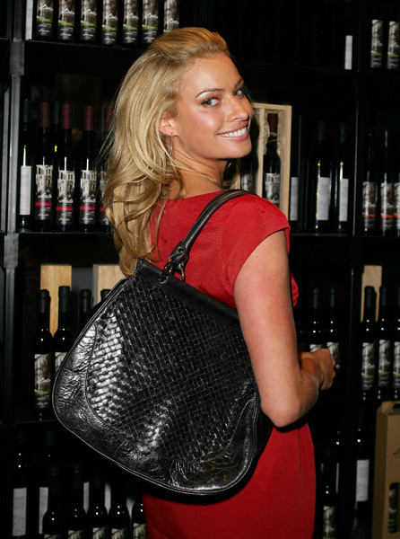 Hinze launches Sportscraft's 'The Kristy Bag' in Sept. 2008. (Don Arnold/WireImage)