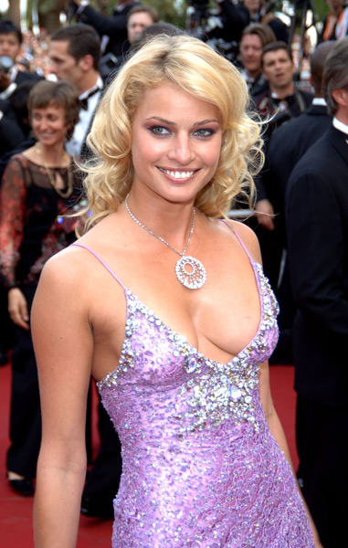 Hinze walks the red carpet at the 2005 Cannes Film Festival. (Jon Furniss/WireImage)