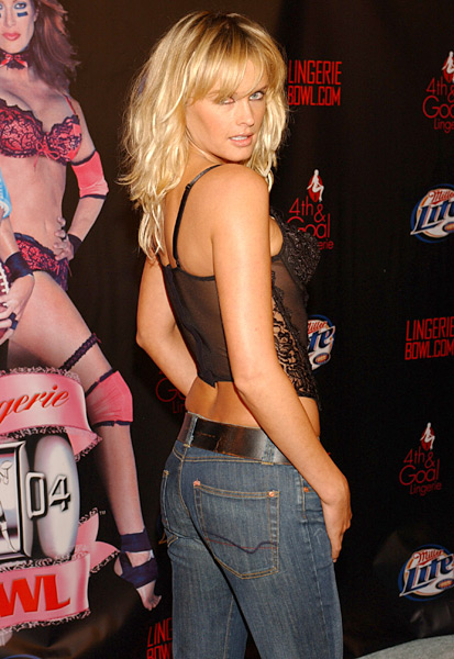 Bax attends the launch of the 2004  Lingerie Bowl. (Arun Nevader/WireImage)