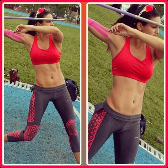 @lerynf: Una fotito de hoy haciendo lo que mas me gusta en la vida #DEPORTE Terminamos justo antes de que comience la lluvia!!! #fitnessmotivation #fitbody #fitgirl #femalemotivation #hardbody #healthy #health #love #life #sexy #sports #exercise #trainhard #javelin