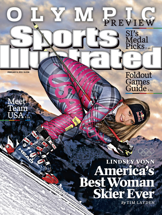 SI proclaims Vonn to the best best American woman skiier ever in Jan. 2010. (Bob Martin/SI)