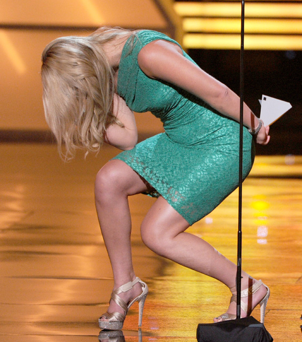 "Vonn ""Tebows"" during the 2012 ESPY Awards in Los Angeles. (Kevin Winter/Getty Images)"