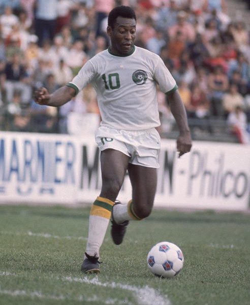 Legendary soccer star Pele celebrates his 73rd birthday on Wednesday. (Jerry Cooke/SI)
