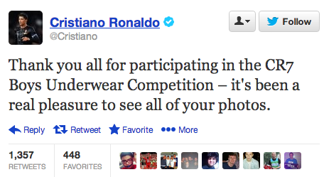 Cristiano Ronaldo Tweet about Boys Underwear Photos Seems Poorly ...