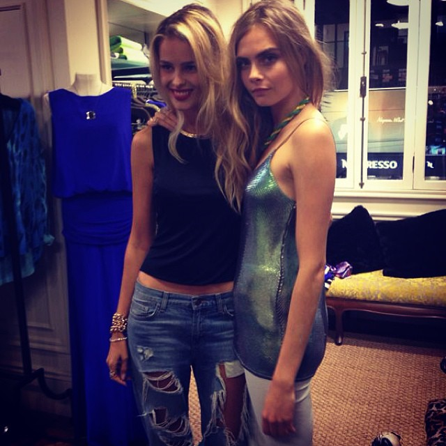 @yayabrunet1: My new girl @caradelevingne