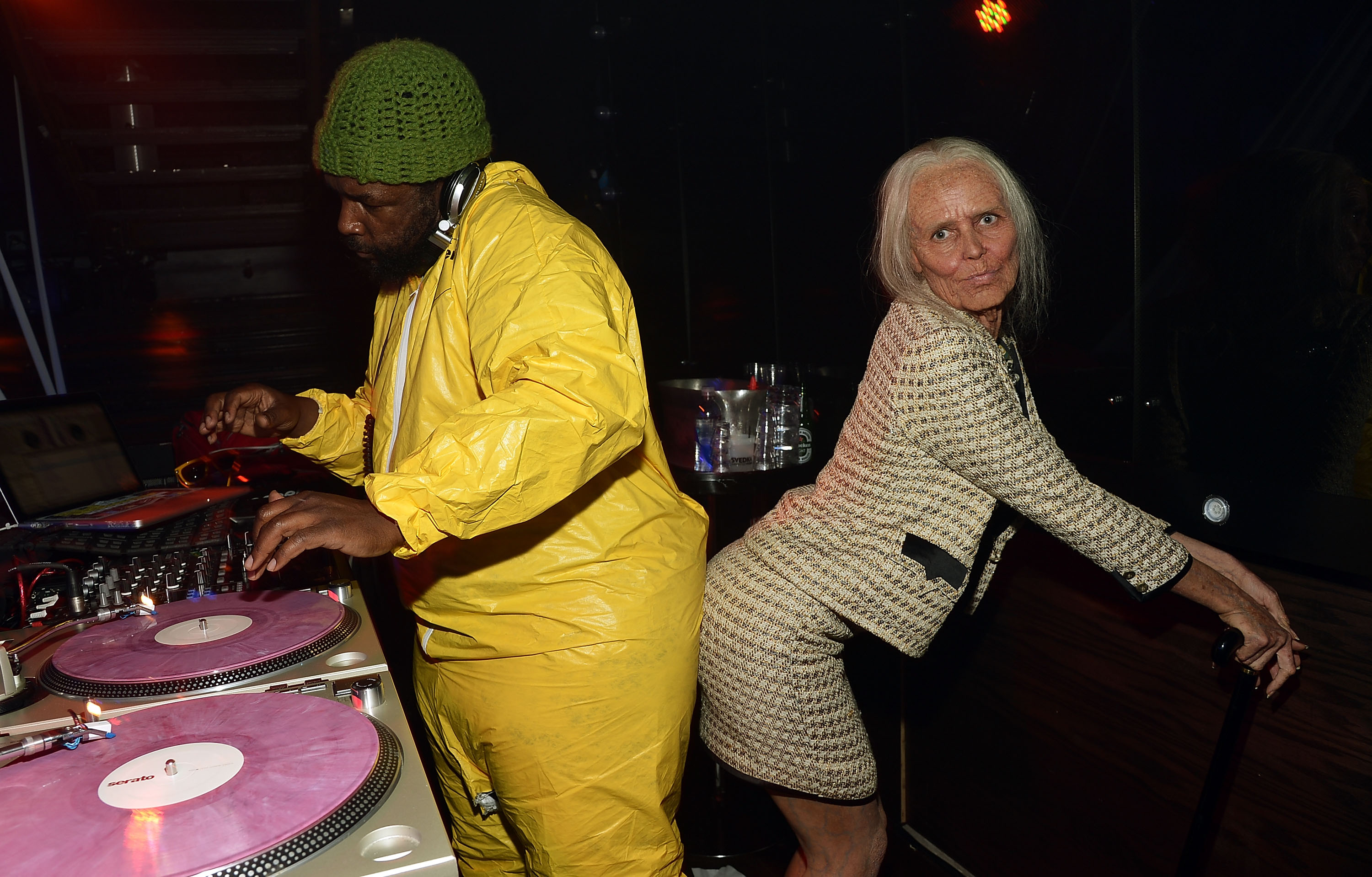 Questlove and Heidi Klum :: Mike Coppola/Getty Images
