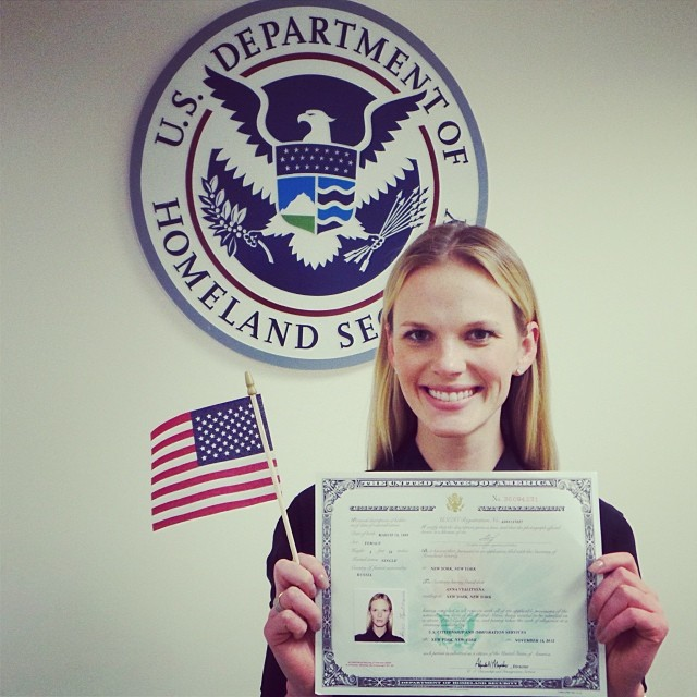@annev_official: I couldn't have been more proud than I'm today. It's such an honor and a dream come true to become an American Citizen! I'm so happy to live in the country where freedom means so much and where if you work hard enough, you can accomplish