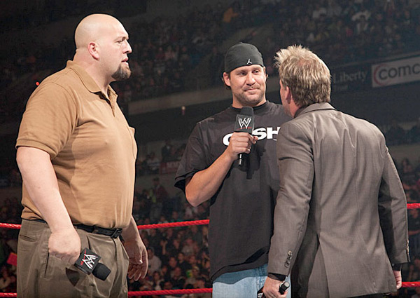 Ben Roethlisberger, Chris Jericho and Big Show (2009) :: Courtesy of WWE