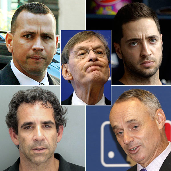 THE BIOGENESIS FIVE: Ok, ok, just so we're clear: Two former MVPs -- A-Rod and Ryan Braun -- were linked to Tony Bosch, a shady PED peddler, who ended up accepting money from MLB's Bud Selig and Rob Manfred, the supposed good guys in all this, to rat on h