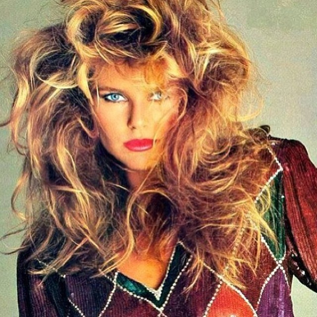 "@christiebrinkley: Me in the 80""s... Real hair color and hair ... Make up by @sandylinter photo by @albertwatson one of my favorite shots for @harpersbazaarus #throwbackthursday"