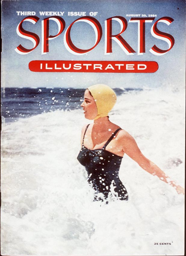 Setting the precedent early on, SI put a swimsuit on its third-ever cover  ::  Richard Meek/SI