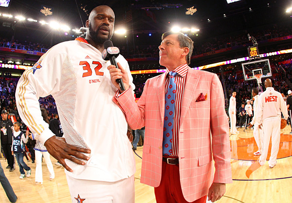 Shaquille O'Neal and Craig Sager ::  Jesse D. Garrabrant/NBAE/Getty Images