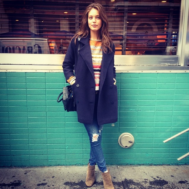 @emilydidonato1: Sweater weather! Love this #stefanel sweater and jacket.